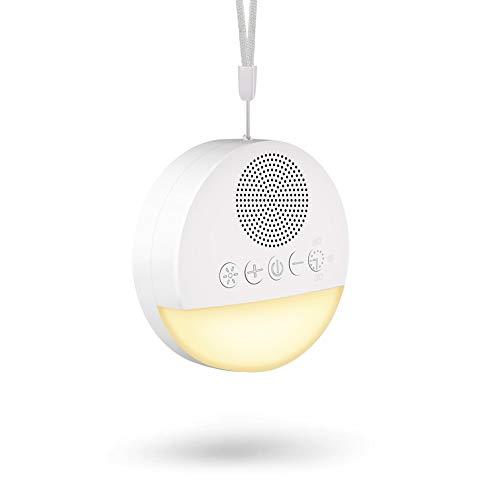 Cohotek Einschlafhilfe weißes Rauschen Tragbar mit 20 Beruhigende Klänge, Klangmaschine zum Schlafen & Entspannen für Erwachsene, USB aufladbare/Nachtlicht/Memory-Funktion
