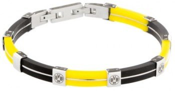 BVB Schmuck Armband Kautschuk schwarz gelb Borussia Dortmund