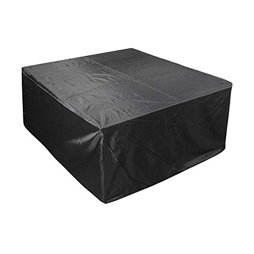 YYQIANG Outdoor Garden Lawn Patio Waterproof Furniture Covers for Tables Chairs, Black, 210D Oxford Cloth, UV Protection, Sunscreen (Size : 325X208X58CM)