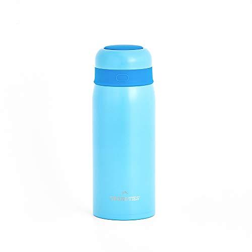 Grandties - Botella isotérmica de acero inoxidable con aislamiento al vacío para niños de 200 ml, de doble capa, para mantener a los niños calientes o fríos.