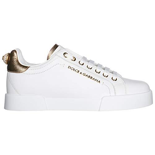 Dolce&Gabbana Sneakers Portofino Donna Bianco/Oro 35 EU