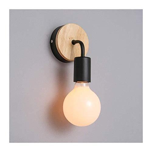 YONGYONGCHONG Lámpara de pared de madera maciza de madera maciza, moderna, personalidad minimalista, lámpara de pared creativa original estilo de diseño, E27 iluminación