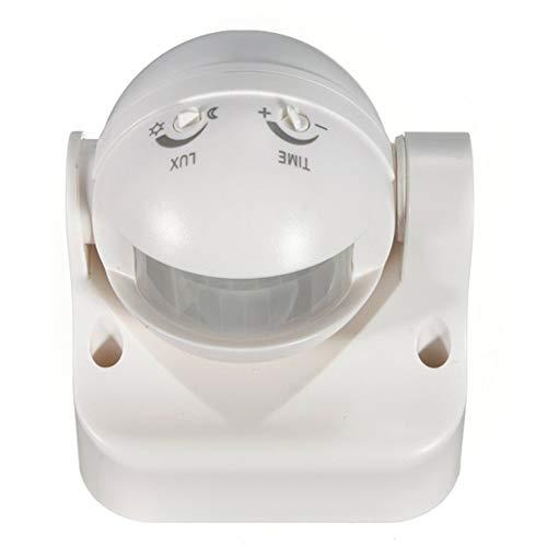 Buchse Stecker Jack Outlet Dekorative Face Plate Sicherheits-PIR Bewegungs-Sensor-Detektor-Schalter Weiß Außen 180 Grad Electric Power Sockel Home Decoration