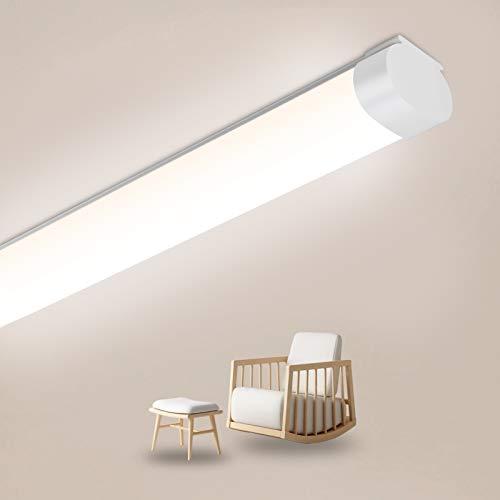 Oeegoo Tubo LED 150cm, 51W 5100Lm (100Lm/W) Tubo fluorescente, Impermeable IP65 Lampara de Techo, LED Plafon para garaje sótano baño taller cocina bodega tienda blanco neutro 4000K