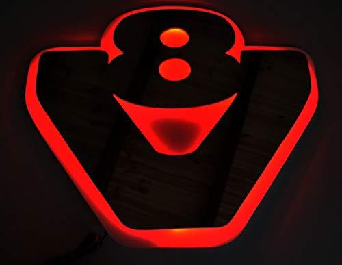 24V rot LED 3D Platte Silber matt grau neon rot Lichtschild V8 für Scania LKW und LKW 540 x 460 mm