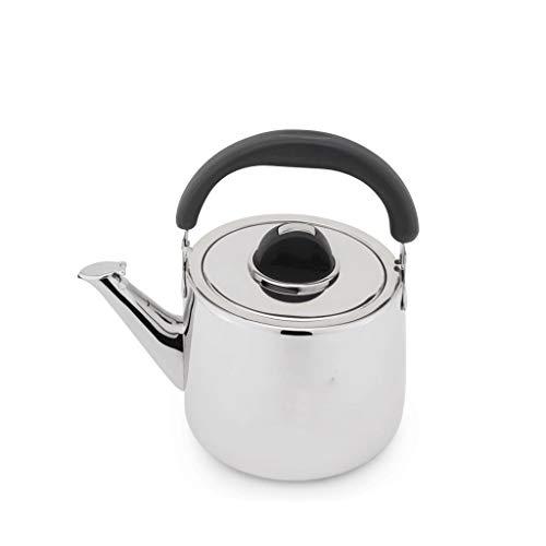 Whistle ketel Theepot, 4L RVS Gas Electric keramische kookplaat Halogeen oven met Fluitketel verdikking Household Cooker Sounding Kettle Roestvrijstalen ketel