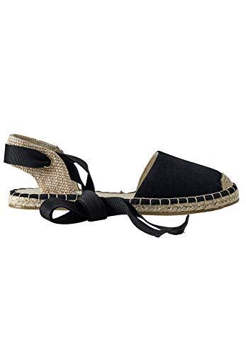 ellos Women's Lace-Up Flat Espadrilles Shoes - 11 M, Black