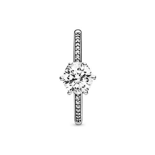 Pandora Damen-Solitär Freundschaftsring 925_Sterling_Silber mit '- Ringgröße 52 198289CZ-52