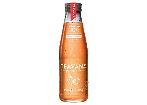 Teavana Strawberry Apple Green Tea Unsweetened 14.5 fl oz Glass Bottle, pack of 1