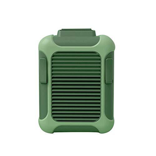 Briskay - Mini ventilador USB portátil, ventilador colgante de manos libres, alimentado por una velocidad de 2 niveles para exteriores como acampada