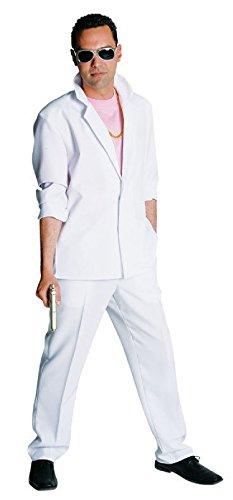 M210251-XL weiß Herren Miami Vice Anzug-Kostüm Bodyguard Gr.XL