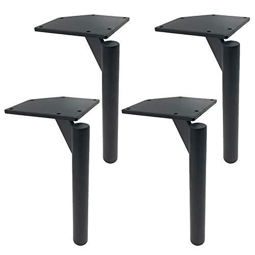 Q-YR Rundrohr Möbelfüße 4 Stück Eisen Geeignet Für TV Schrank Schlafsofa Stuhl Füße Stark Und Robust 17Cm