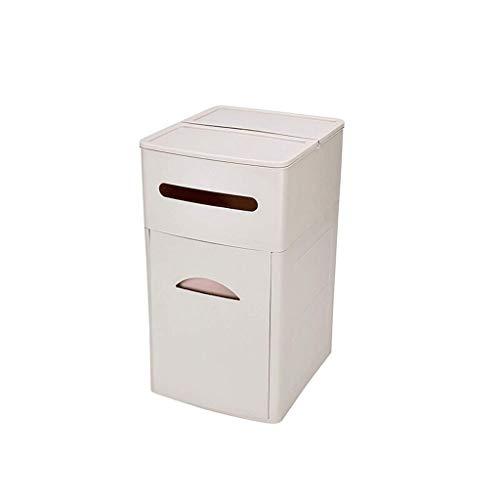 xiaokeai Cubo de Basura Gabinete de Basura para Uso doméstico Cubierto, clasificado, con múltiples usos, cajón de Basura, Sala de Estar Grande Contenedor de residuos