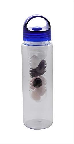 Premiumset mit 600ml Flasche | Polierte Wasserstein-Mischung | 200g Bergkristall, Amethyst, Rosenquarz | Vitalisierung des Wassers
