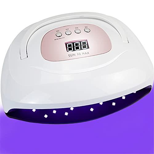 WM-MSMY Lámpara De Uñas LED UV De Doble Mano 150 W, Secado Rápido con Sensor Automático De 57 Ledes 4 Ajustes De Temporizador Espacio Más Grande para La Uña De La Mano Y del Pie,A