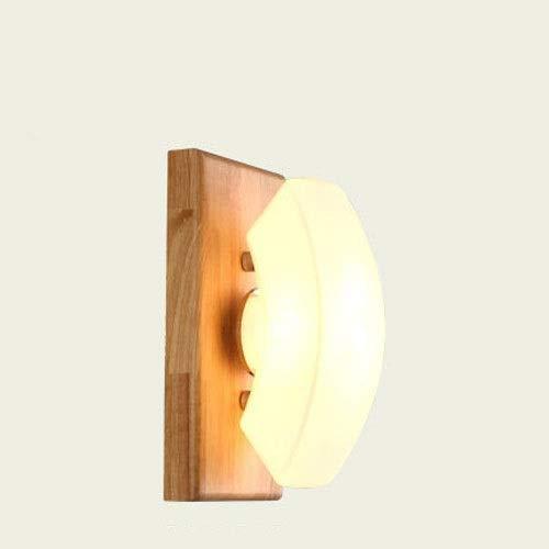 Dfgdf Lámpara de pared aplique luz pared cama nórdica diadema pasillo original madera moderna simplicidad dormitorio