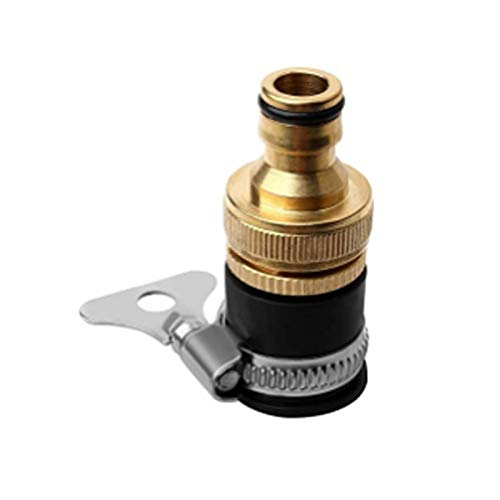 ODOOKON 2 Pieza Piezas y Conectores para mangueras y Accesorios, Adaptador de Toma para grifería Interior, BSP latón Adaptador Exterior Conector Graden Tap Connector Threaded Faucet Adapter