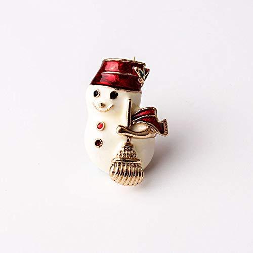 MKOIJN Broche Creatieve Sneeuwpop LegeringDrop Broche Kraag Pin Broche Corsage Meisje Kerst Accessoires Shirt Broche Oliezak Accessoires