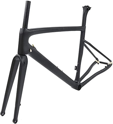 SALUTUY Alta Durabilidad Mano de Obra Exquisita Post Headset Rueda Trasera Convertible Liberación rápida Fibra de Carbono Cuadro de Bicicleta de Carretera Disco Alta Estabilidad para(54cm)