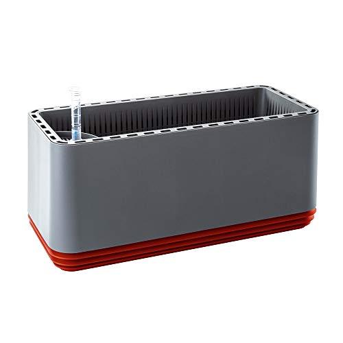 AIRY Box - Natürlicher Luftreiniger für Allergiker - Patentierter Pflanztopf als Filter gegen Schadstoffe, Haus-Staub, Pollen, Geruch, Allergie (rot, Gen. 1)
