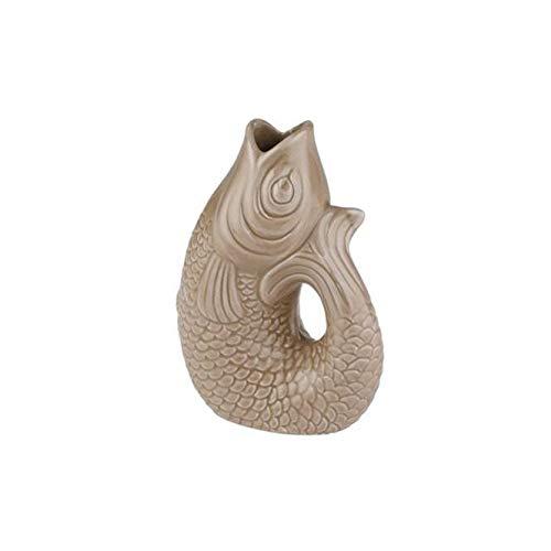 Gift Company - Monsieur Carafon - Vase/Blumenvase - Steingut - Sand - XS - 8,5 x 5,5 x 12,50 cm - 2 Liter