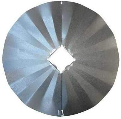 """Erva Post Mounted Squirrel Baffle, Galvanized, 23.25"""" Dia. - Made in The USA"""
