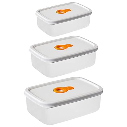 BESTonZON 3 Pz Contenitori di Stoccaggio Alimentare Rettangolare in Plastica Rettangolare Ermetica Contenitore di Cibo Contenitore Pranzo a Microonde Accessori da Cucina Sicura per La