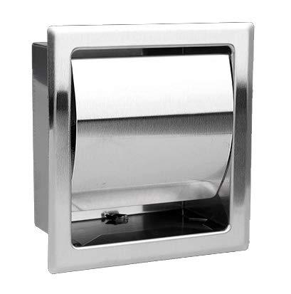 "Toilettenpapierhalter Edelstahl Hochglanz unterputz zum Einbau, Single Einbautoilettenpapierhalter AGUTE ""Brillant-S"""