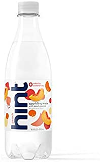 Hint Fizz Sparkling Water Peach (Pack of 12) 16.9 Ounce Bottles Unsweetened Peach-Infused Sparkling Water Zero Sugar Zero Calories Zero Sweeteners Zero Artificial Flavors