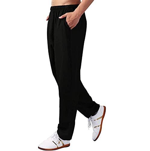 ZPAGBFWJ Mujer Pantalones de Tai Chi Cintura elástica Pantalones de Linterna para práctica Pantalones Deportivos de Artes Marciales, Unisexo Pantalones de Yoga Kung Fu Ejercicio Matutino,003,2XL