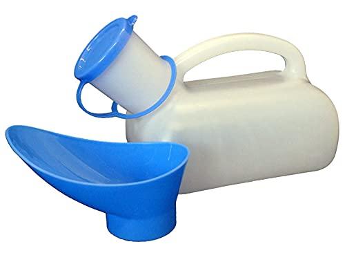 Urinflasche UNISEX Urinal für Reisen Camping Pflege für Männer Frauen Kinder 1000 ml mit Griff