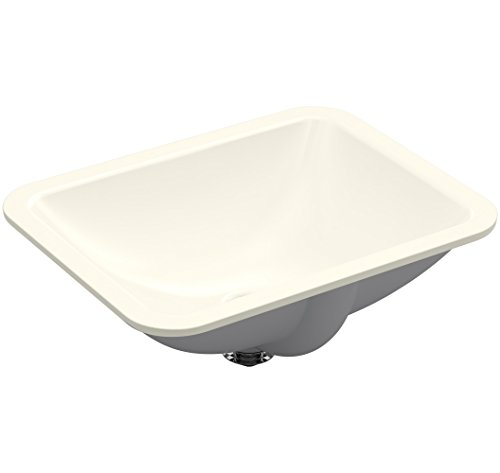 KOHLER K-20000-96, Biscuit Caxton Rectangle 20-5/16 in. x 15-3/4 in. Undermount Bathroom Sink, 20x15x7
