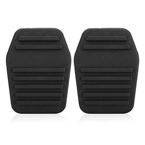 2pcs Couvre-Pédale d'Embrayage, Keenso Pédale de Frein de Voiture Repose-Pieds Embrayage Couvercle de Pédale en Caoutchouc Couverture Protection Noir pour MK6 MK7 2000-2014