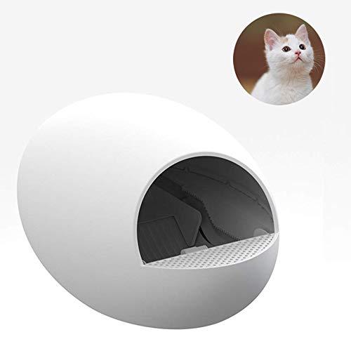 Volledig gesloten automatische kattenwc, eenvoudig te reinigen elektrische vuilnisbak, automatische ongeoorloofde verwijdering van antiplash kattenhuizen