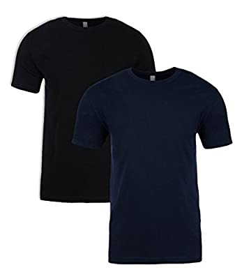 Next Level N6210 T-Shirt, Midnight + Black (2 Pack), Large