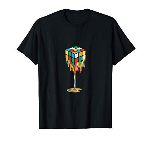 Colores que se derriten, Cubo Rubiks Diseño de rompecabezas Camiseta