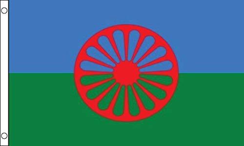 Zigeuner (Romanie Peoples) Vlag 5ft x 3ft 75d Premium Polyester Geschikt voor Vlaggenmasten
