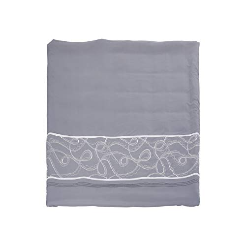 Christopher Knight Home 309150 Charli Queen Size Fabric Duvet, Gray