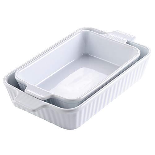 MALACASA, Serie Bake.Bake, Set da 2 Teglie da Forno in Porcellana (12