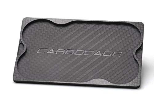 CARBOCAGE Coin Card Carbon - Für alle Slim Wallets mit Längsauszug