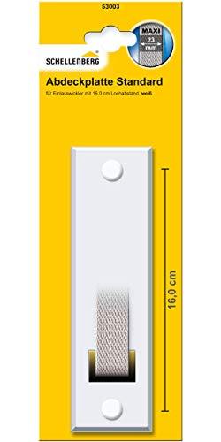 Schellenberg 53003 Abdeckplatte Gurtwicklerblende Lochabstand 16 cm, Blende für Gurtwickler für Einlasswickler