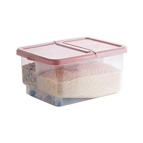 XYZMDJ 42cm arroz de la Cocina Caja de Almacenamiento de Grano Contenedor de Cocina Organizador Grande de harina de arroz de plástico Cajas a Prueba de Polvo Humedad (Color : B)