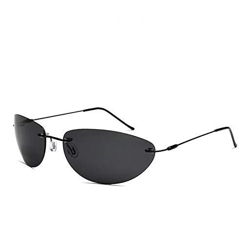 ERLIZHINIAN Moda Neo Estilo Gafas de Sol polarizadas Ultraligero sin rebordes de los Hombres de conducción diseño de Marca de los vidrios de Sun (Lenses Color : Matrix Neo Style, Size : A)