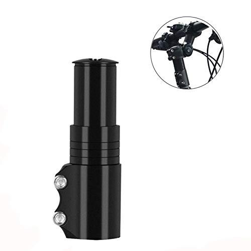 Bike Fork Stem Extender Aluminum Alloy Adjustable Handlebar Riser Adaptor for Mountain Bike, Road Bike, MTB, BMX, Fixie (Black)