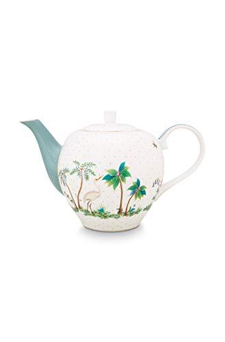 PiP Studio Tea Pot Jolie Dots - Tetera (1,6 L), color dorado