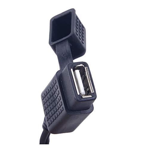 WLLOVE WULE Motocicleta Negro Impermeable SAE a USB TELÉFONO GPS Cargador de energía Adaptador de Cable Accesorios