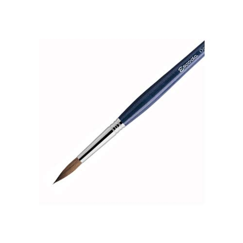 Speedball Art Products 2410-2/0 Escoda Optimo Series Artist Oil & Acrylic Long Handle Round Paint Brush, Size 2/0, Pure Kolinsky