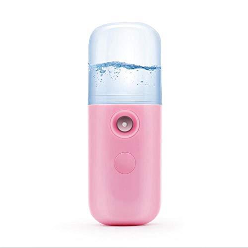 Hanstore 30ML portátil vaporizador Facial Cara pulverizador USB nebulizador USB Nano Facial vaporizador humidificador hidratante de Mujeres Belleza Herramientas de Cuidado de la Piel Pink