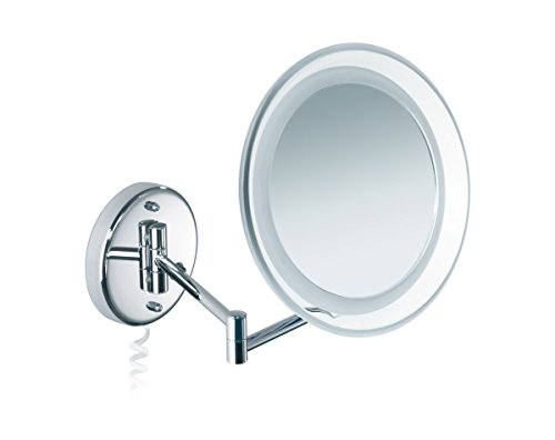 Nicol 4025350 MARIA Kosmetikspiegel mit LED-Beleuchtung, Wandspiegel 10-fach Vergrößerung