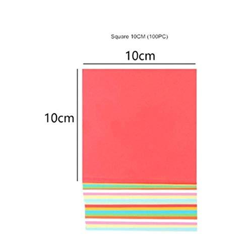 100 stk/set vierkante origami papier kid diy handgemaakte dubbelzijdig gekleurde gevouwen ambachtelijke papier scrapbooking decoratie arts materiaal, 10x10 cm 100 st